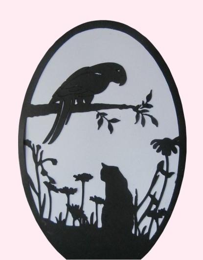 papercut bird and branch